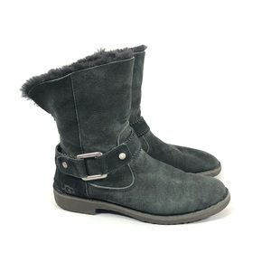 UGG Cedric Black Suede Boots